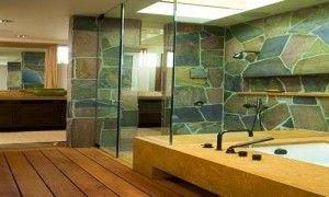 kamar mandi dengan batu alam