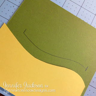 Penny Slider Card tutorial - Newton's Nook Designs - step 2