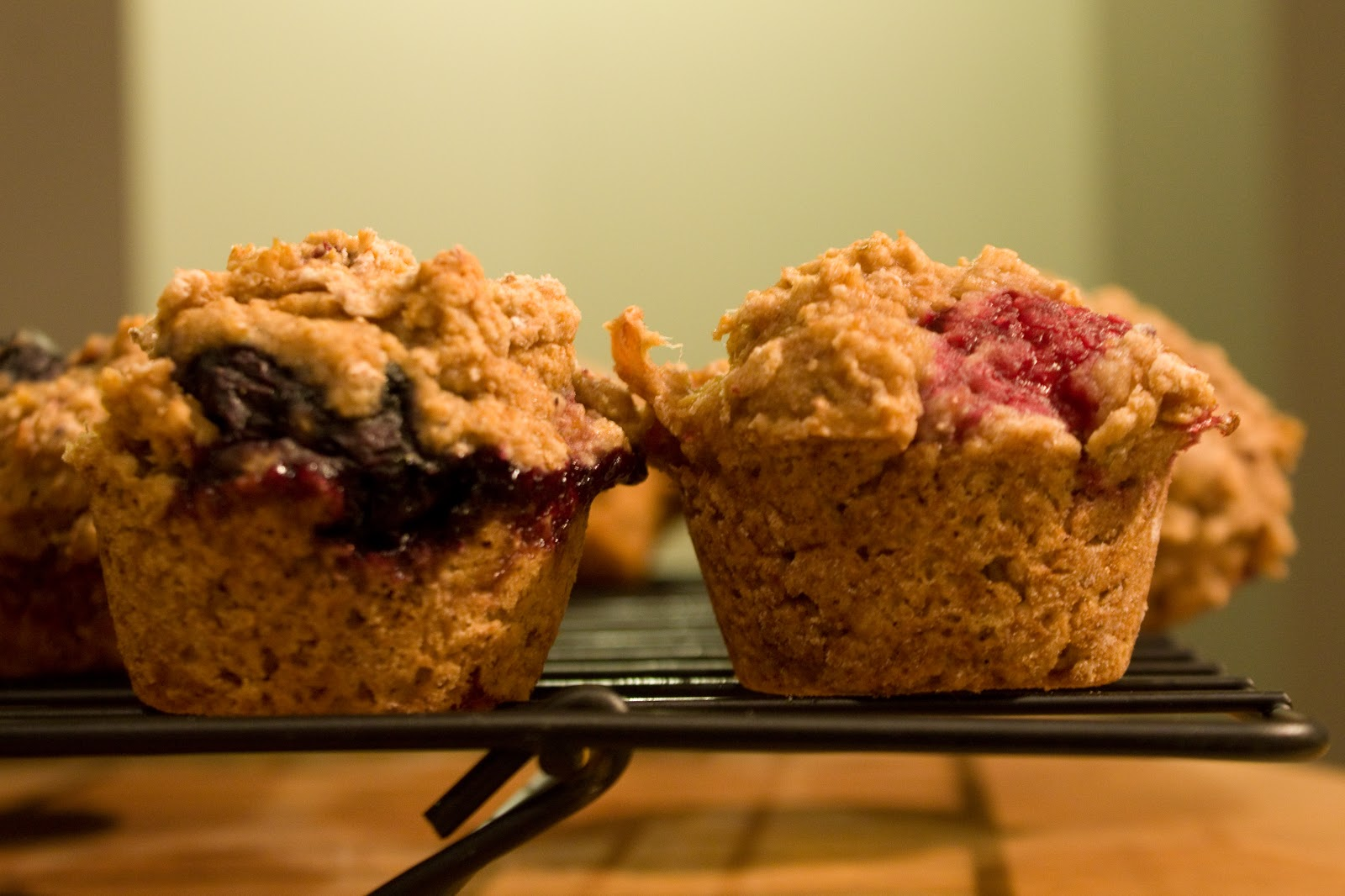 Little Piglet: Mixed Berry Whole Wheat Muffins