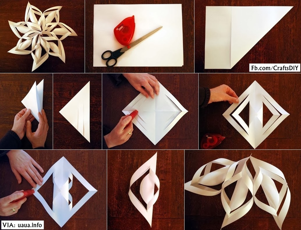 DIY Paper Snowflake - DIY Craft Projects