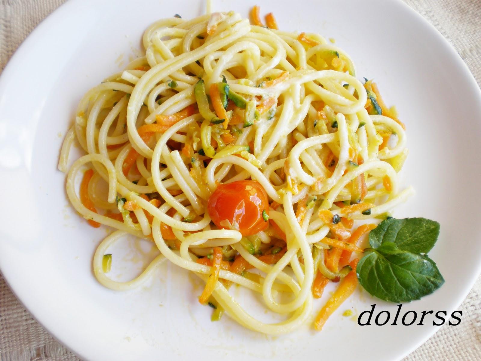 Blog de cuina de la dolorss espaguetis tibios dos for Espaguetis para dos