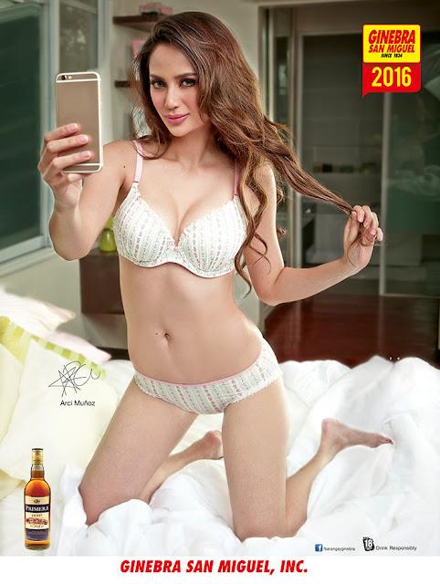 Arci Munoz white bikini