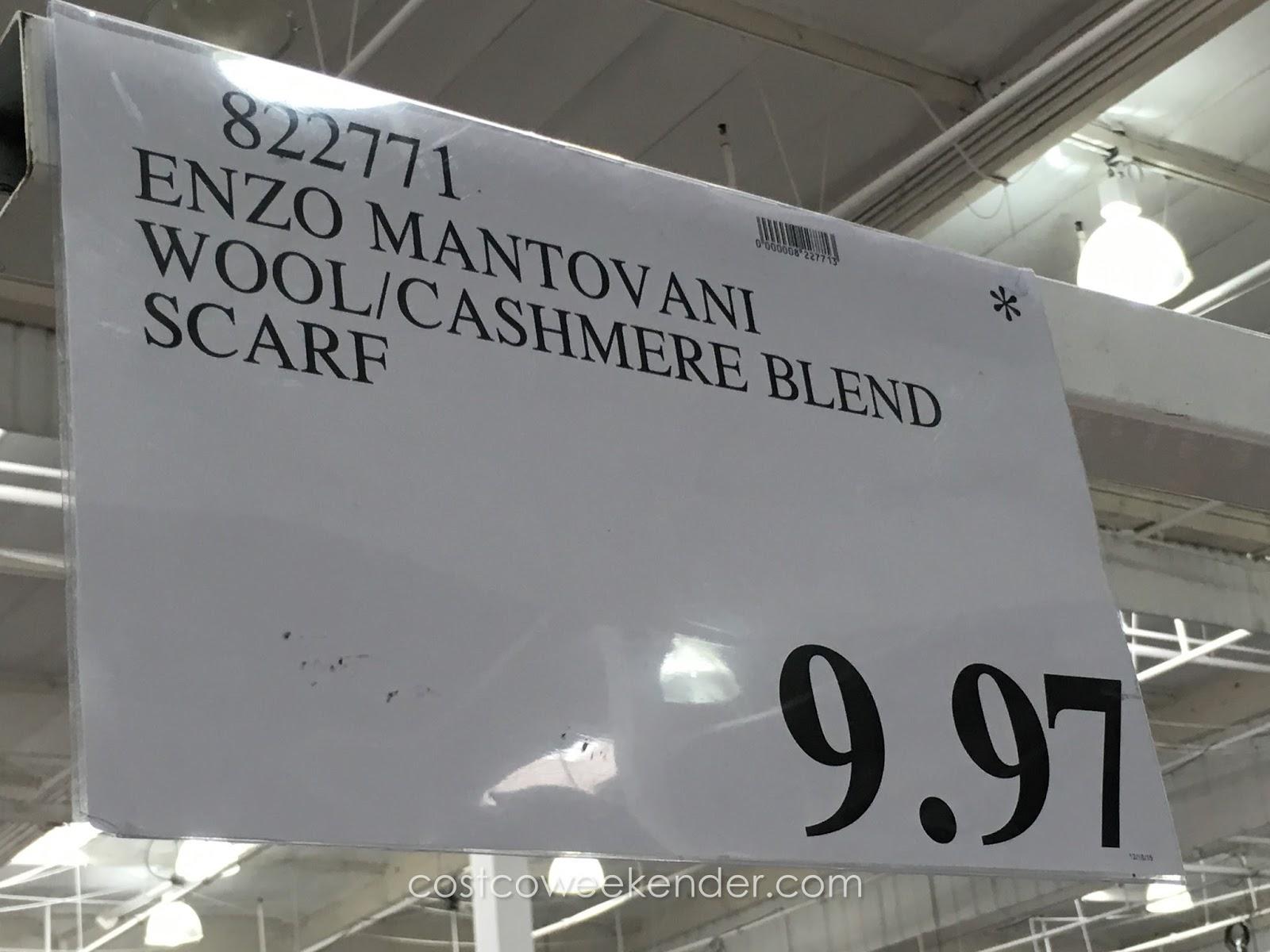 Enzo mantovani wool cashmere blend scarf costco weekender for Enzo mantovani
