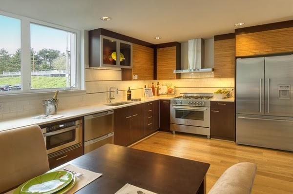 desain rumah dapur bentuk l ide