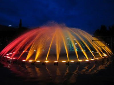 Colourful fountains at brindavan gardens