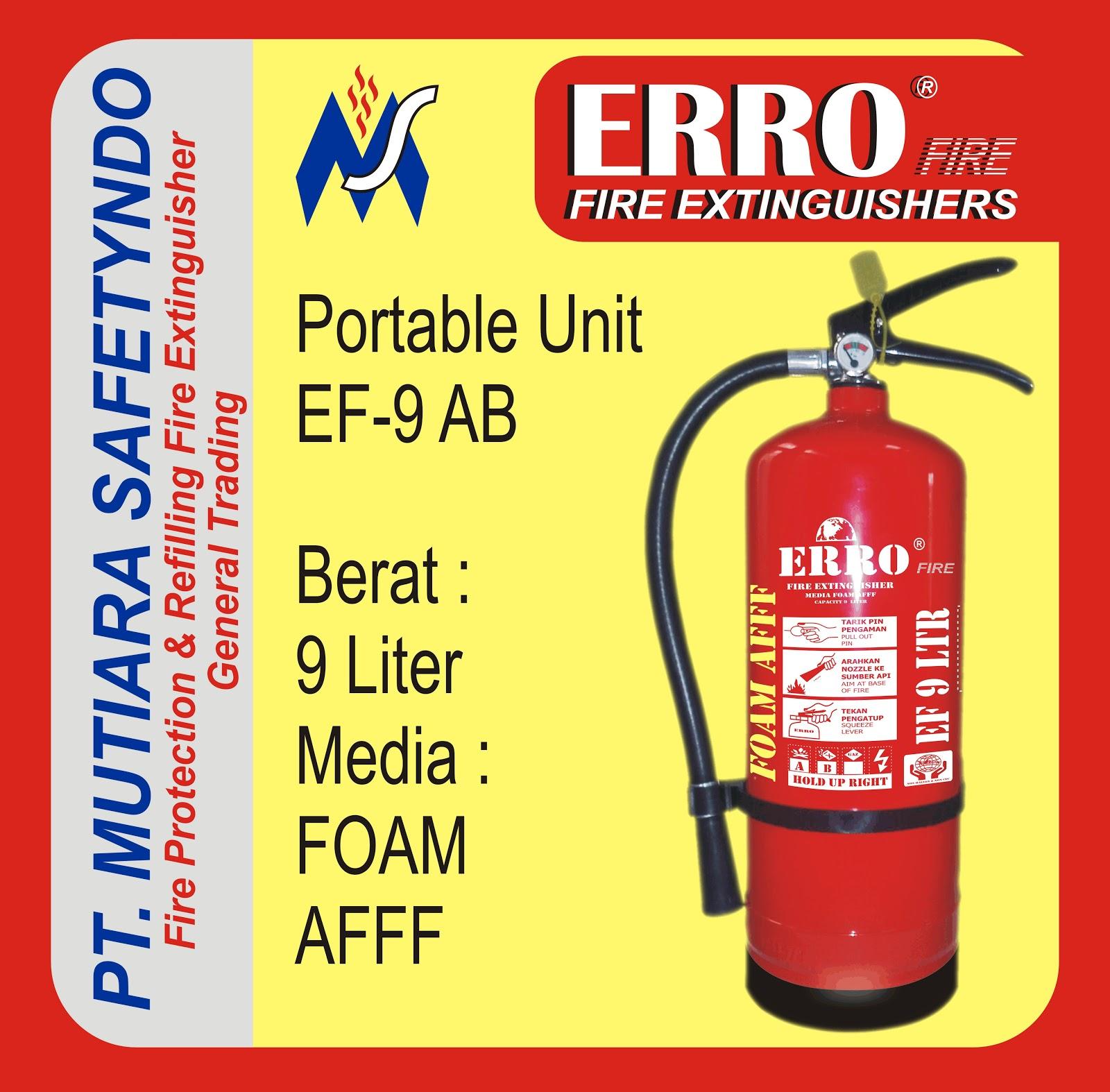 Tabung Pemadam Api | Tabung Apar Foam Afff 9 Liter Portable Unit