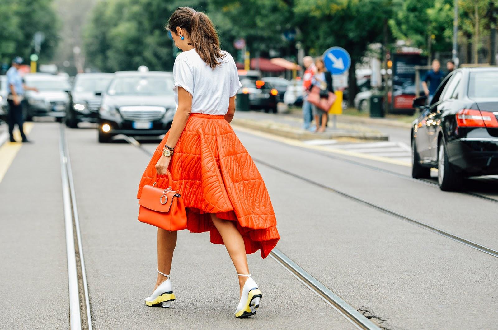Street Style Feminino Milan Fashion Week 2015 Aline