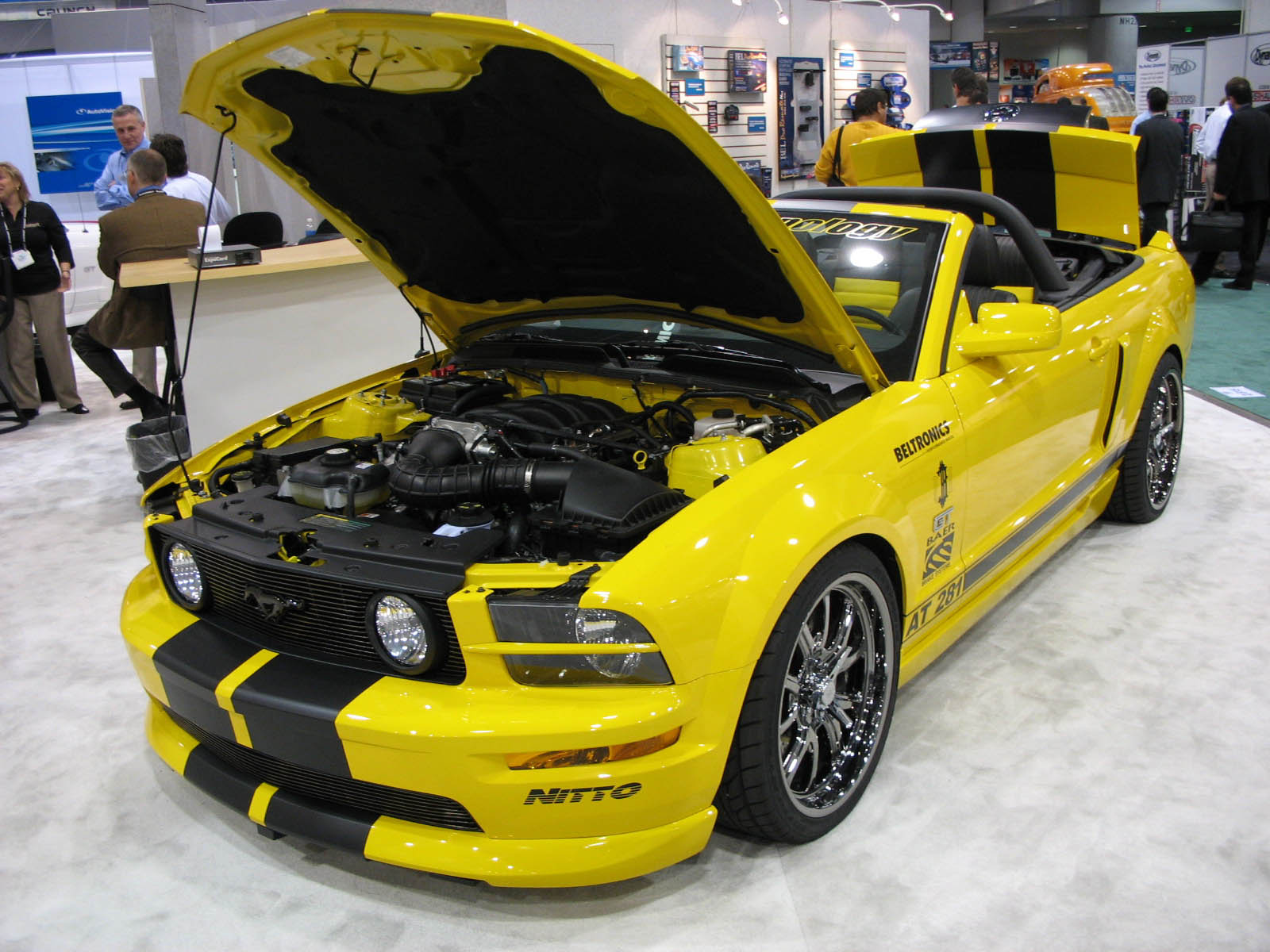 Otomotif modification car ford mustang yellow - Mustang modification ...