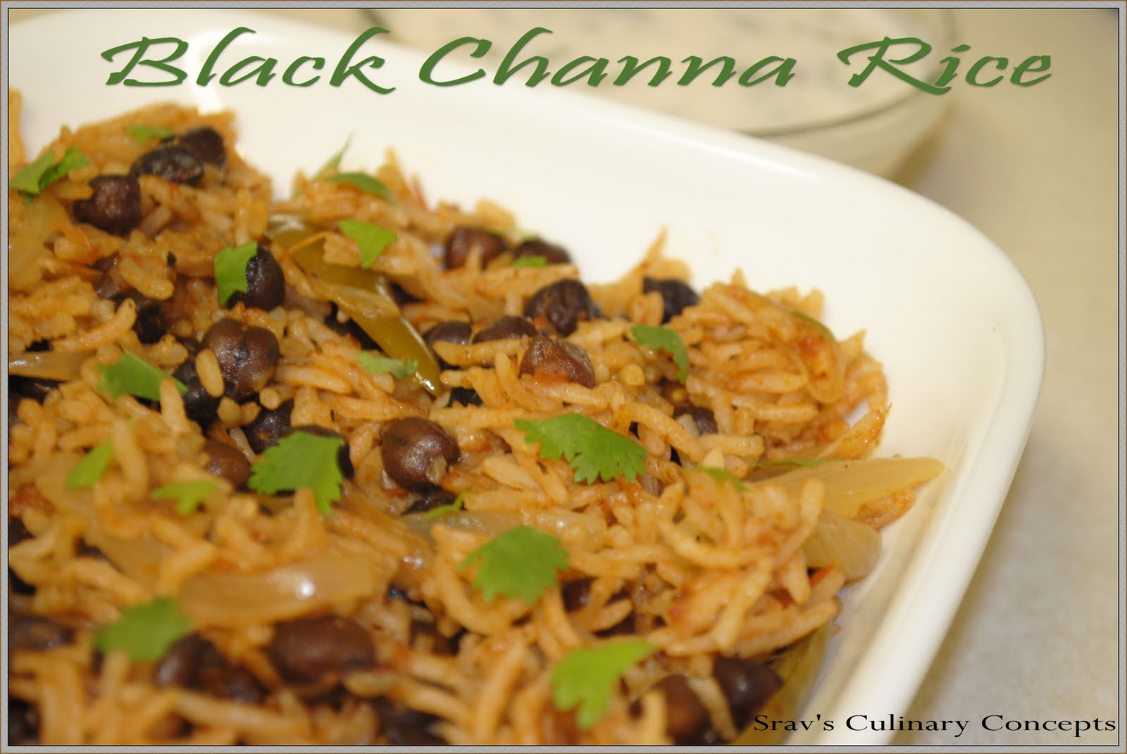 Black channa rice