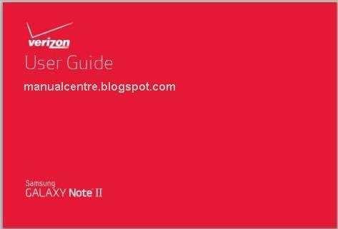 Samsung Galaxy Note II CDMA Verizon Manual Cover