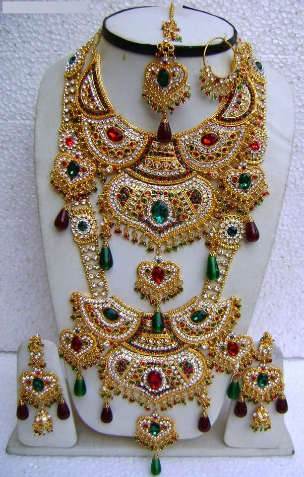 Heavy Bridal Jewellery sets Designs for brides 2015 Just Bridal