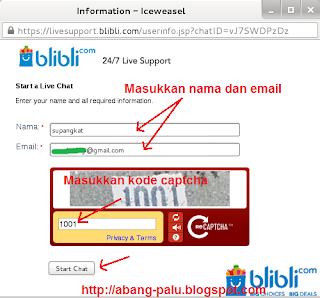 chat dengan blibli.com