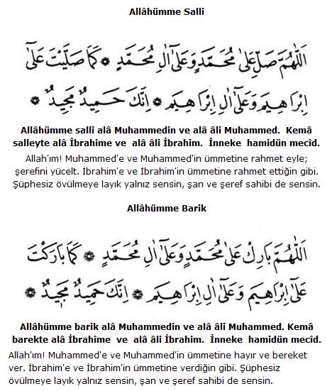 Salavat Duaları Ve Anlamları