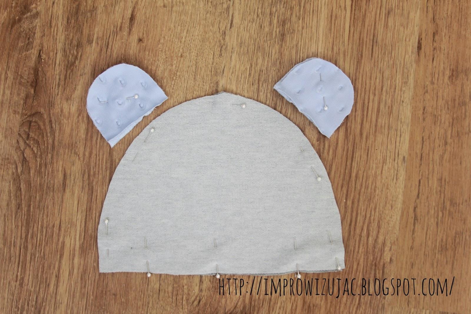czapka z uszami DIY