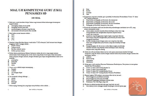 Soal Latihan UKG Penjaskes SD dan Kisi-Kisi
