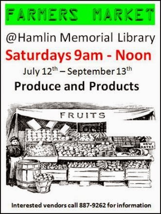 Saturdays--Hamlin Library Farm Market
