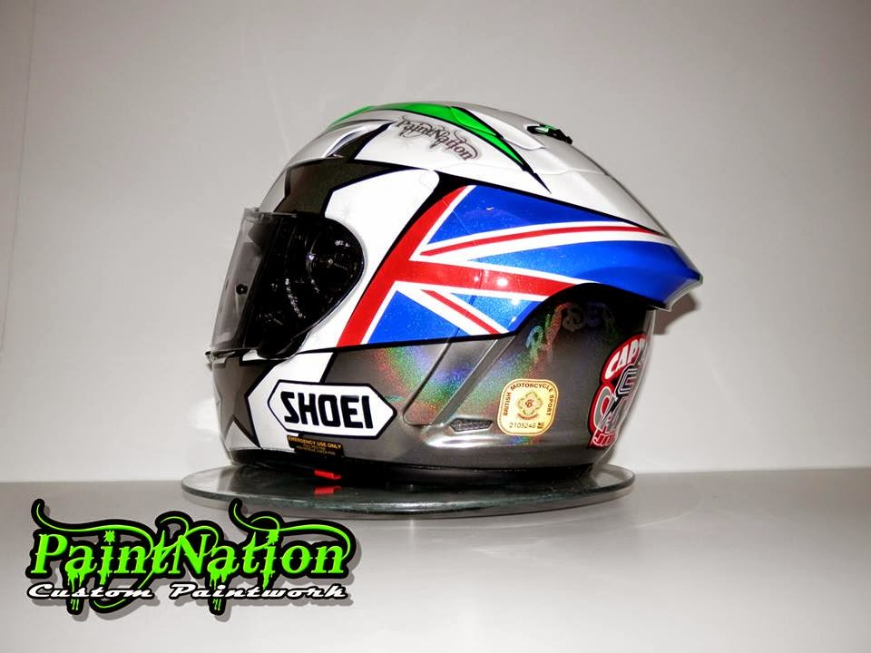racing helmets garage shoei x spirit ii j ellison 2014 by paintnation. Black Bedroom Furniture Sets. Home Design Ideas