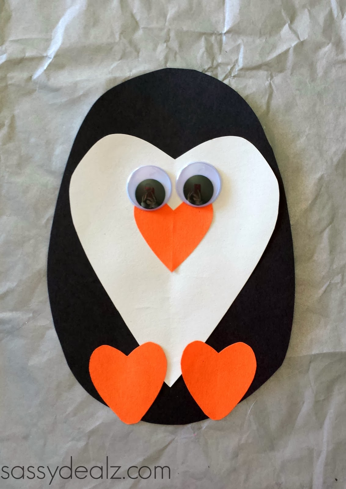 Paper heart penguin craft for kids crafty morning for Penguin project