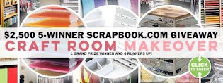 $2500 Scrapbook.com  Craft Room Mackover Giveaway. Enter by 28 February