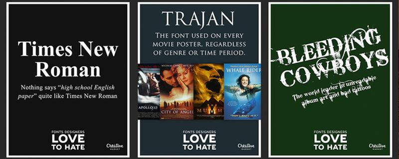 Las 10 tipografías más odiadas por los diseñadores