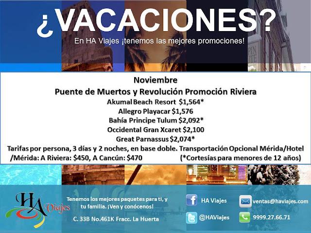 HA Viajes Promocion Riviera Maya 3 Dias 2 Noches Todo Incluido