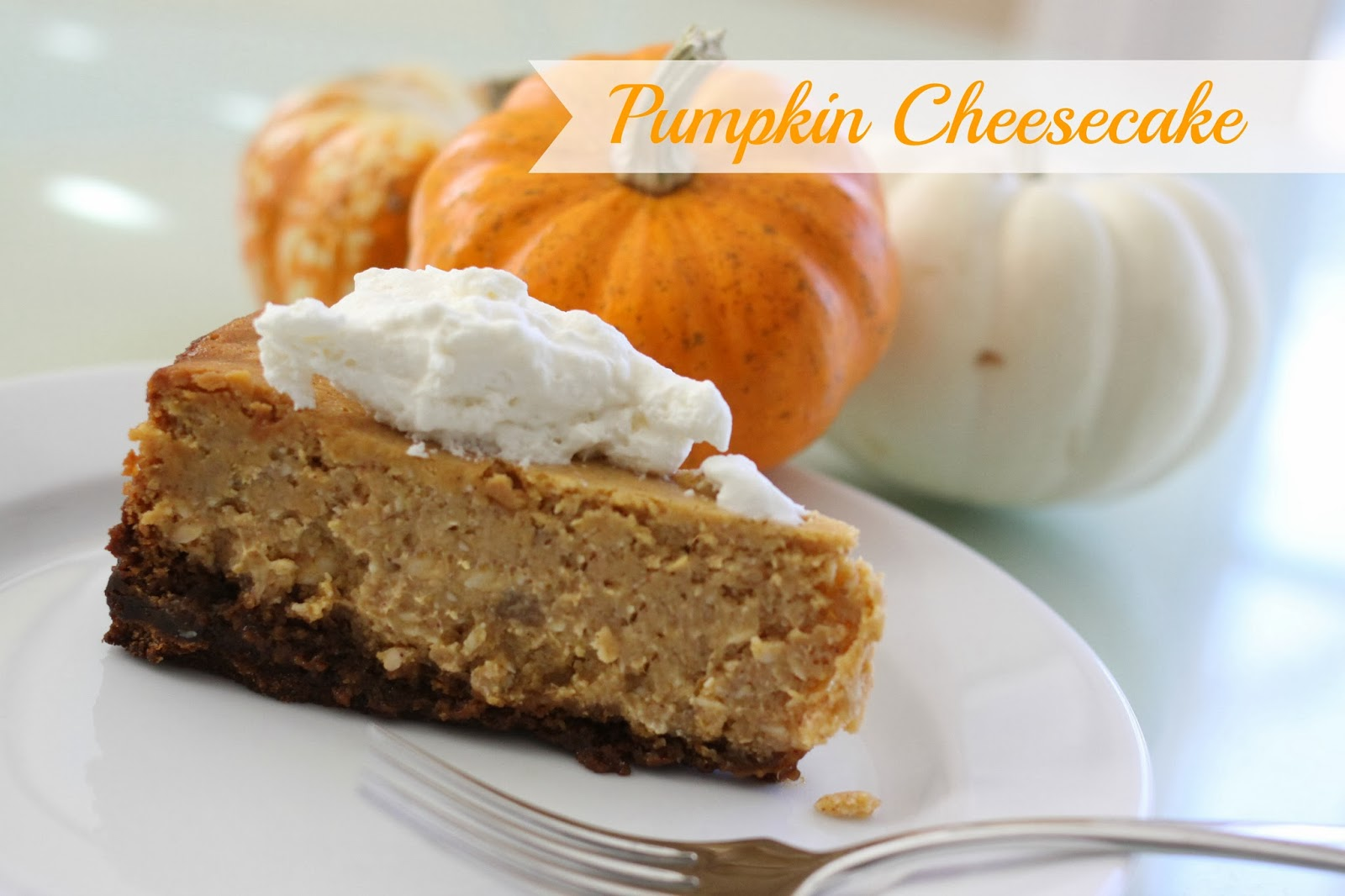 Pumpkin Cheesecake {with Maple Whipped Cream Topping}