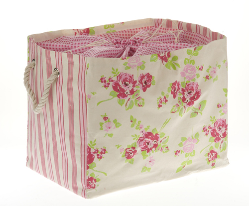 Floral+Canvas+Large+Storage+Bag Shabby Chic Home Interior Decor and Gifts | Love From Rosie