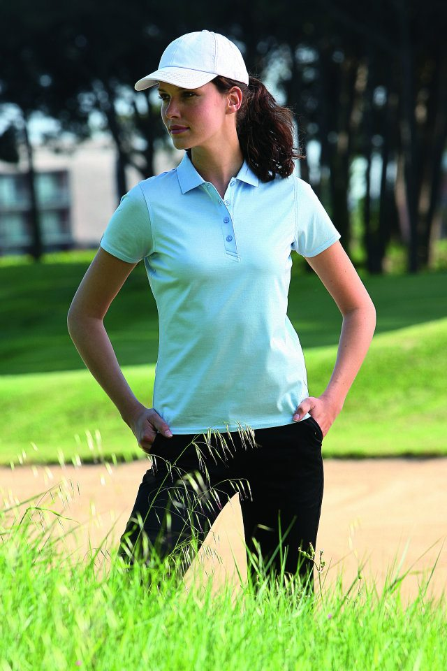Cool Two Women Standing On Golf Course Dressed In Golf Dress Code