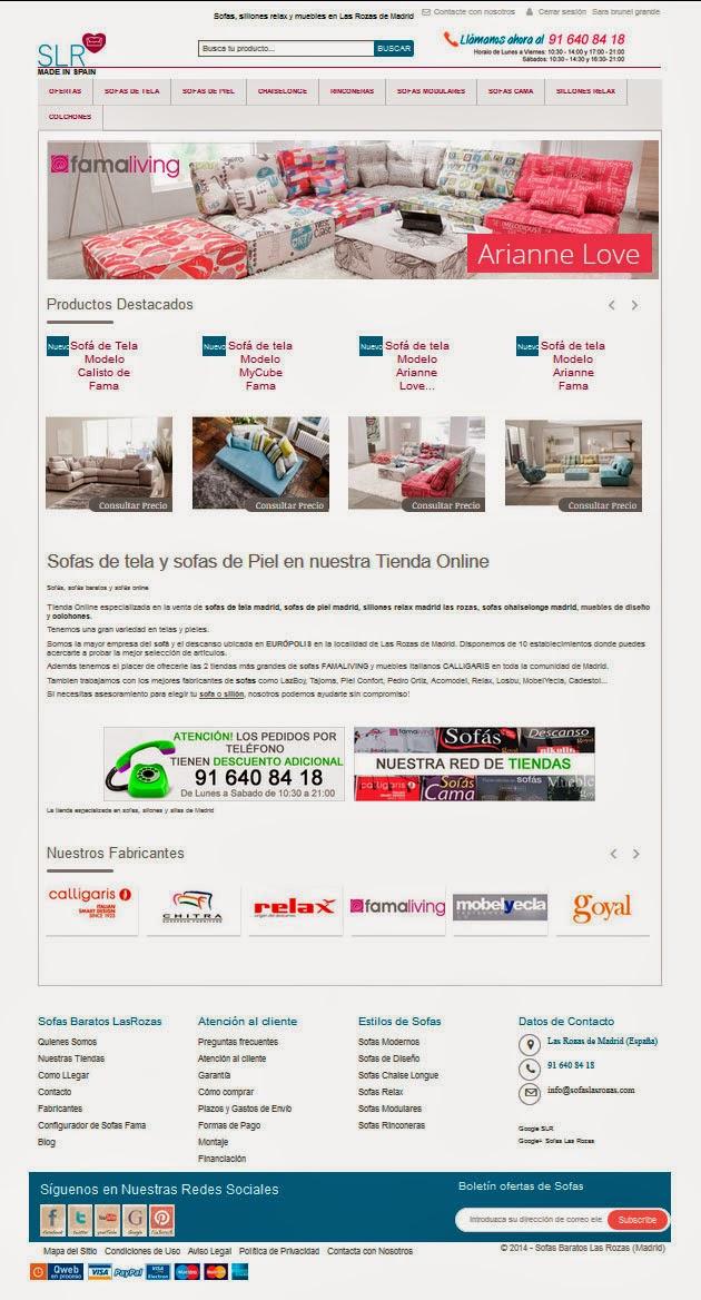 Sofas madrid tienda de sofas en madrid y toda espa a for Tiendas de sofas online