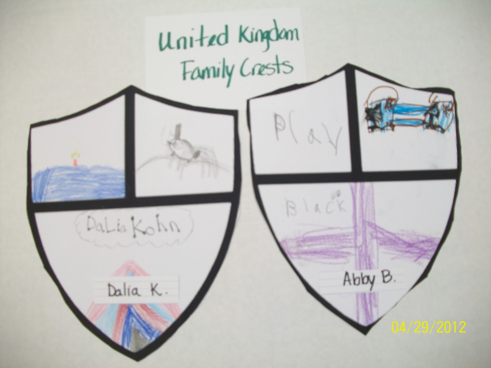 Mrs Imrie Frost Gt 1st Grade Family Crests