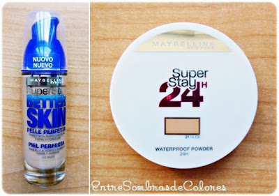 MAYBELLINE - BASE SUPERSTAY BETTER SKIN Y POLVOS SUPERSTAY 24H