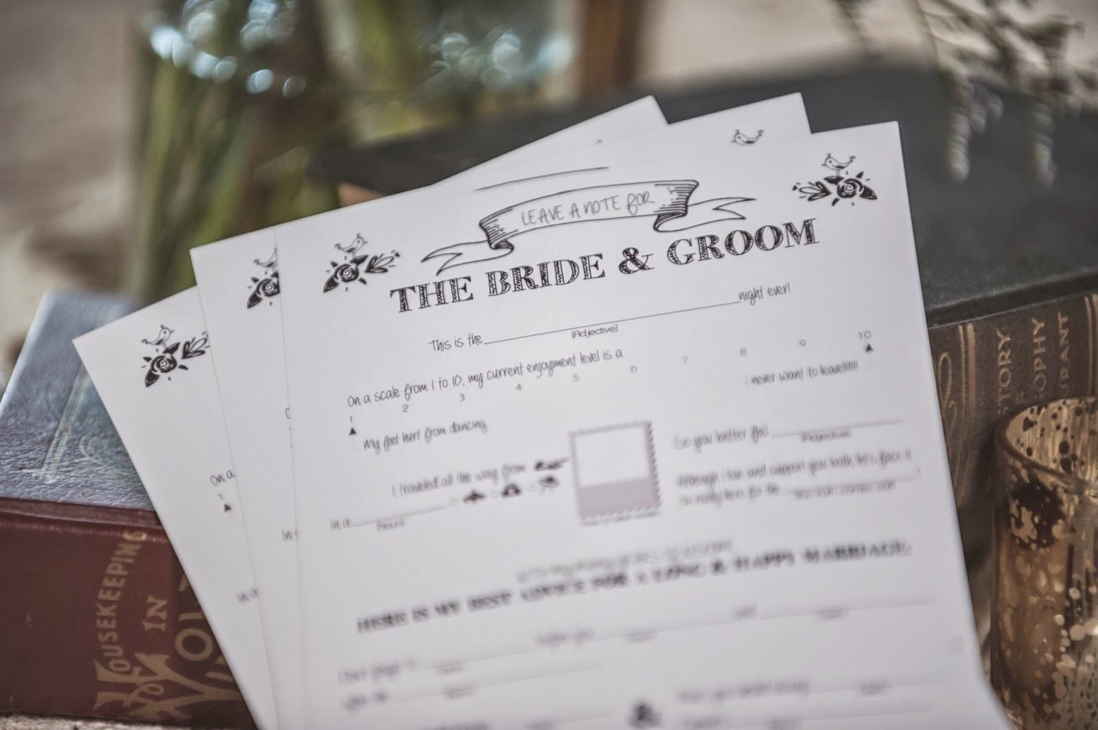 Wedding Mad-Lib Activity