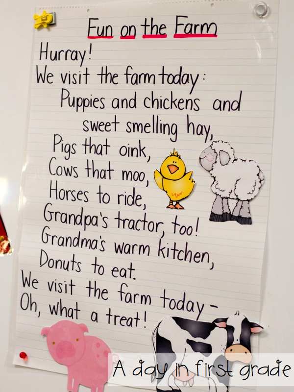A Day in First Grade – Ar Words Worksheet