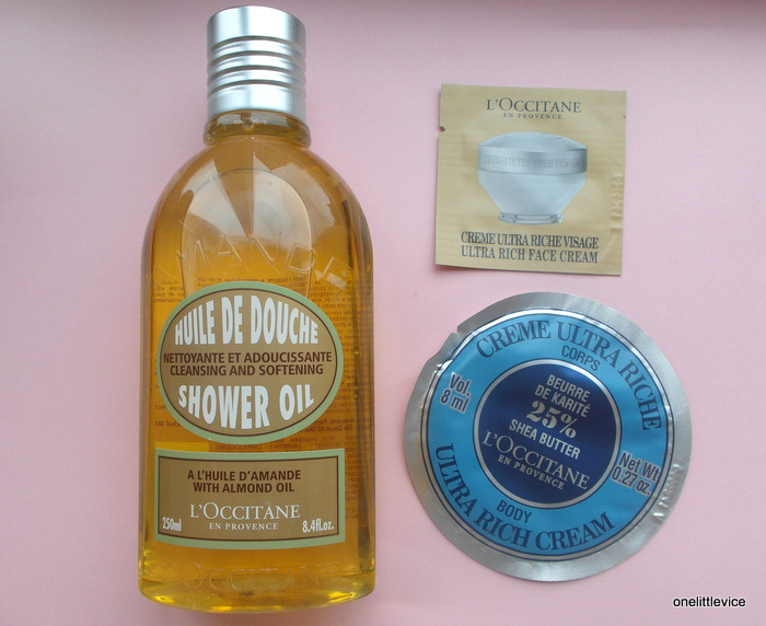 l'occitane almond shower oil freebies samples