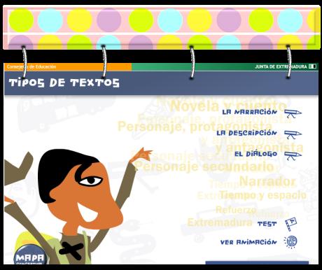 http://www.edu.xunta.es/espazoAbalar/sites/espazoAbalar/files/datos/1326889596/contido/juegos_lengua/juegosdelengua%28APLICACION%29/parasabermas/narracin_descripcin_dilogo.html