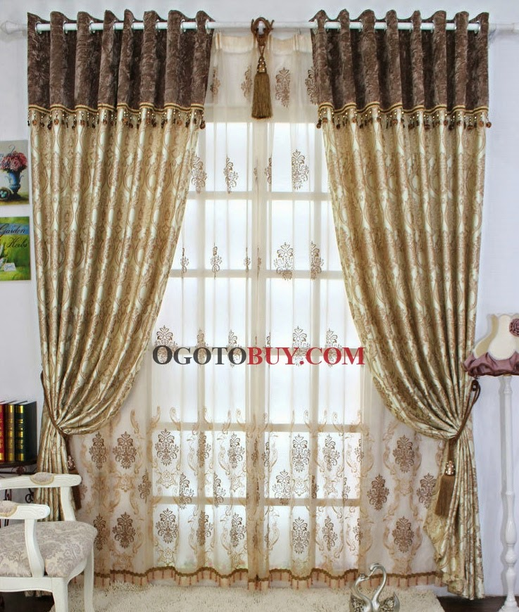 Beautiful window curtains and designs to inspire you for Flowery curtains design