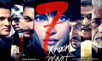 Poster Of Bollywood Movie 7 Khoon Maaf (2011) 300MB Compressed Small Size Pc Movie Free Download worldfree4u.com