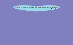 &#39;Give a book, Save our future&#39; campaign