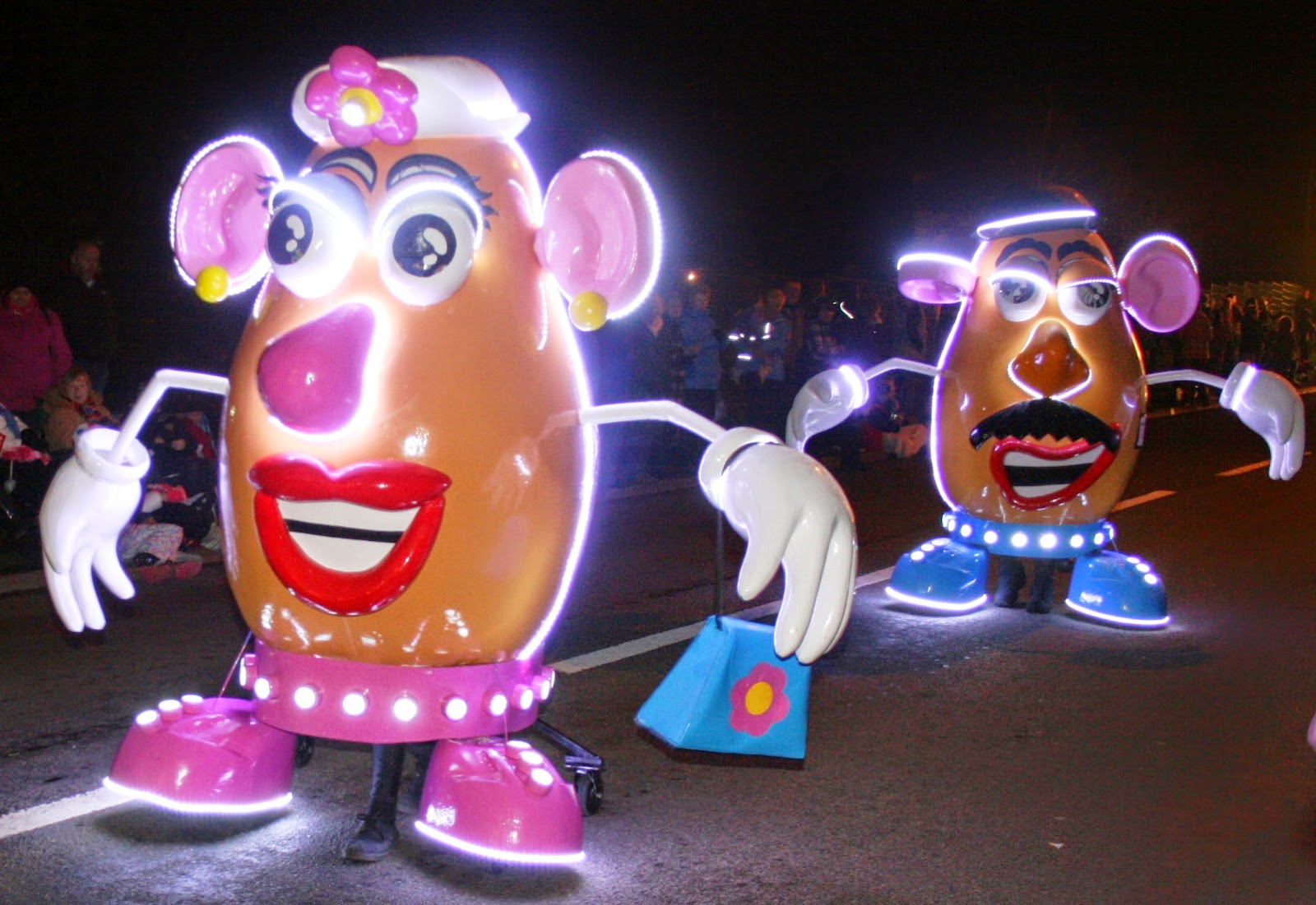 Somerset Carnival Season 2014 - A & A Carnival Club with 'Mr and Mrs Potato Head'