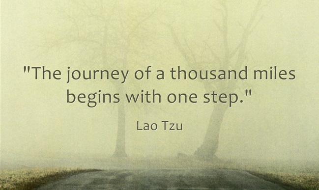 Hành trình ngàn dặm bắt đầu từ một bước đi