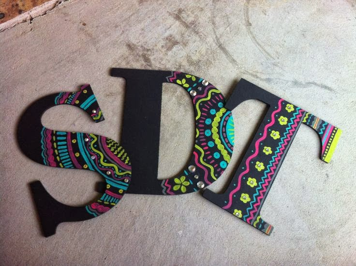 The Crafty Dee Gee Greek Letters From Pinterest