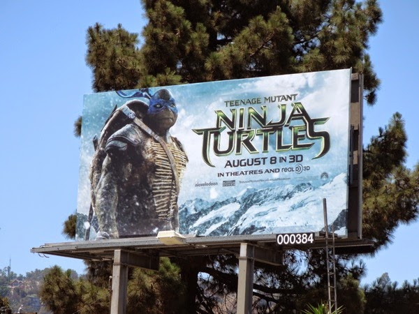 Leonardo Teenage Mutant Ninja Turtles movie billboard