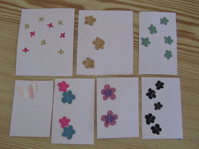cards, handmade, cut, flowers, scissors, butterflies