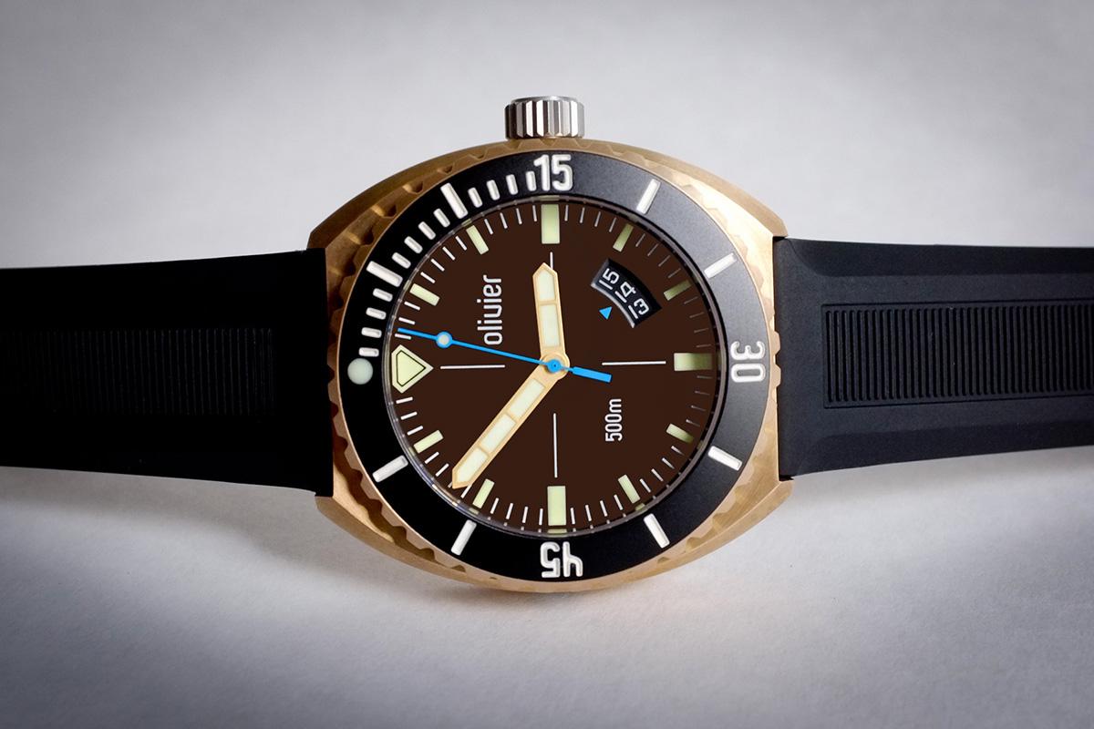 Oceanictime olivier bronze diver newdials - Bronze dive watch ...