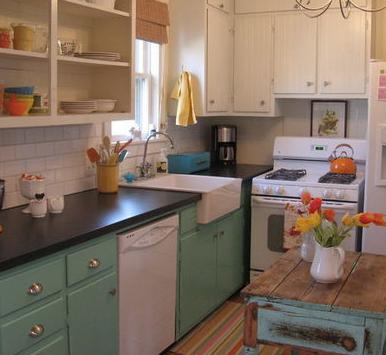 Dise os de cocinas pintura para cocinas - Pintura pared cocina ...