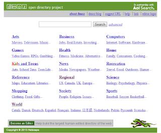cara daftar blog dmoz.org