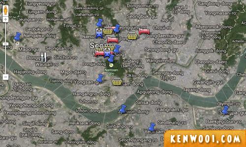 seoul google map