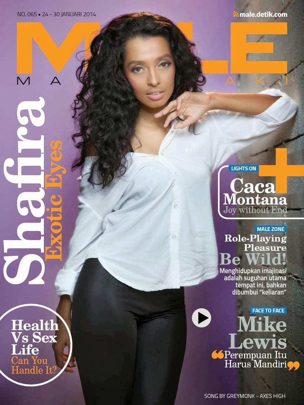 Magazine Cover : Shafira Magazine Photoshoot Pics on Male Magazine January 2014 Issue