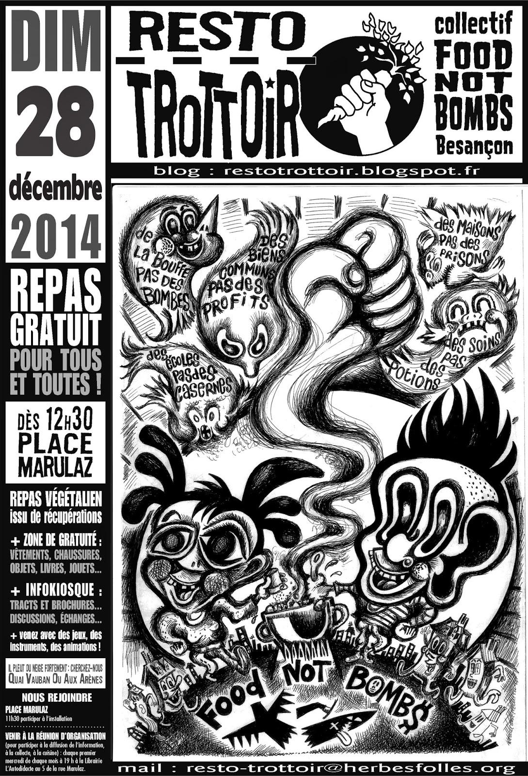 Affiche Resto Trottoir décembre 2014