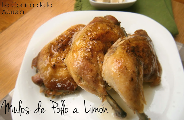 Muslos de Pollo al Limón (Asado al Horno)